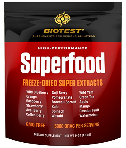 Biotest® Superfood Blend of 18 Berries, Fruits, and Vegetables (140 g) Freeze-Dried Super Concentrated Extracts