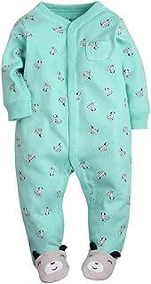 Amissz Ourson bébé somnolent somnolent bébé, Pyjama en Coton Bande dessinée Romper