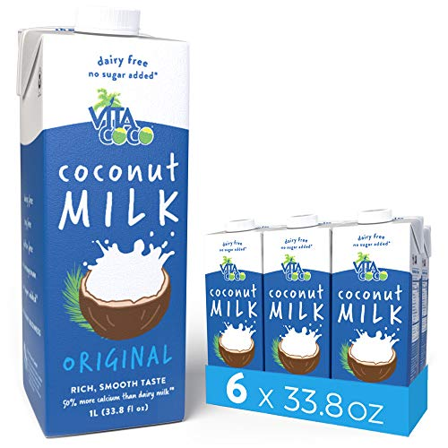 Vita Coco Coconut Milk, Unsweetened Original - Plant Based, Dairy Free Milk Alternative -...