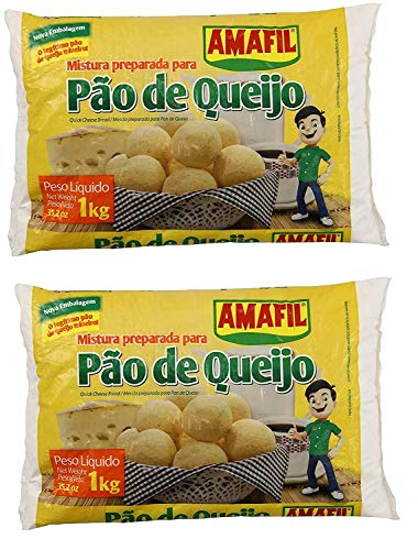 AMAFIL Mix for Cheese Bread 35.2 oz. - 2 Pack / Mistura Preparada para Pao de Queijo 1kg. - 2 Pack