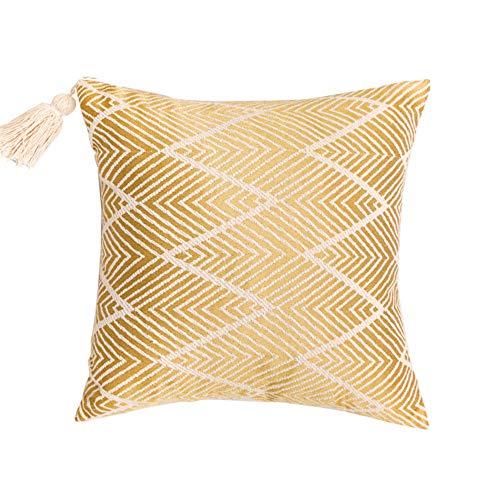 XIAKE Juego de 2 fundas de cojín decorativas cuadradas para sofá, dormitorio, 40 x 40 cm, color amarillo