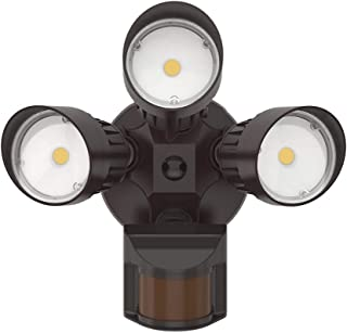 JJC LED Security Lights Motion Sensor Flood Light Outdoor,30W(250W Equiv.)3000LM,IP65 Waterproof,5000K-Daylight White DLC & ETL Listed Outdoor Lighting for Garage Yard Garden Porch Bronze