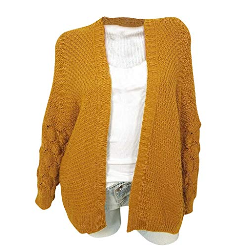 Buy Bargain Women Fall Cardigan Sweater Long Sleeve Batwing Cable Knit Open Front Sweater Plus Size ...