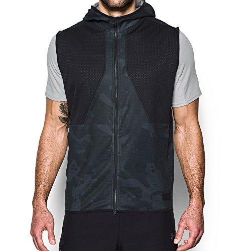 Under Armour Men's Courtside Safari Vest, Black (001)/Black, Large