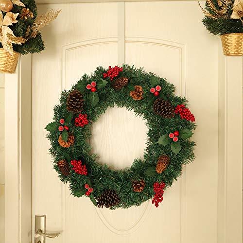 ZXPAG Kerstkransen voor voordeur Kerstkranen voor Grave Pre Lit Kerstkransen voor voordeur deur muur opknoping ornamenten voor voordeur Wall Window Party Décor