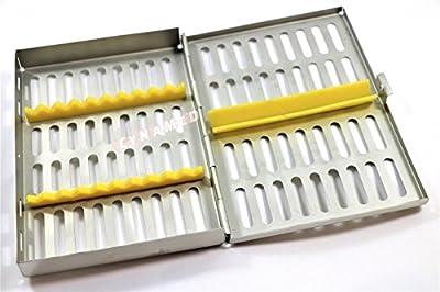 Cynamed Premium German Dental Surgical Autoclave Sterilization Cassettes Box Rack for 10 Instruments