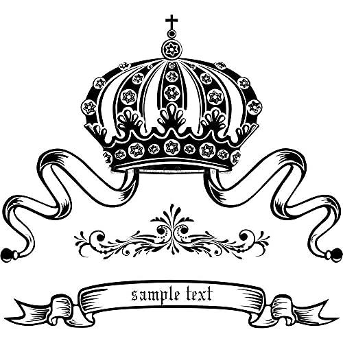 BBZZL Pegatinas de Pared con Forma de Corona Nombres Personalizables Decoración de Dormitorio Infantil Calcomanías de Vinilo Regalos para niños XL 81x74cm
