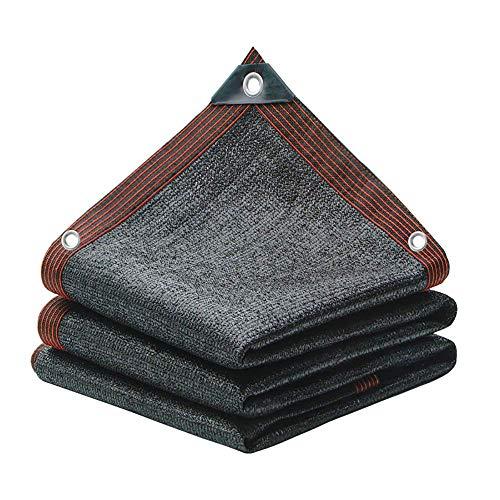 KAUTO Paño de protección Solar con Ojales Red de sombreado Engrosada cifrada Tasa de sombreado del 90% 12 Pines Negros para Cubierta de Plantas Invernadero Granero Perrera Piscina Pérgola o Piscina