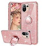 Cover Glitter per Xiaomi Mi 11 Lite 5G&4G / 11 Lite 5G NE, Custodia Brillantini con Supporto...