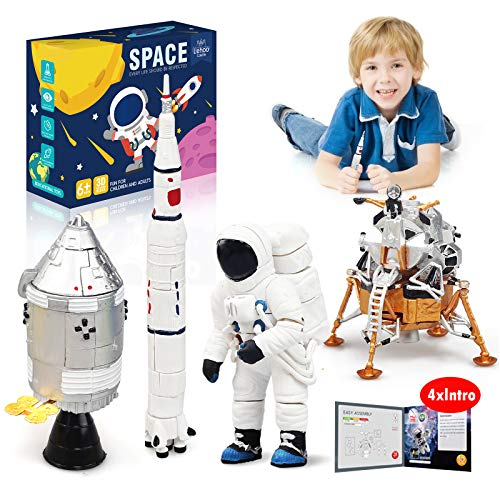 Lehoo Castle Building Toys for 6-8 Year Old, Lunar Space Station Space Shuttle Building Kit Including Astronaut, Rocket, Space Capsule and Lunar Lander, STEM Toys for Boys and Girls, New 2020 (109pcs)