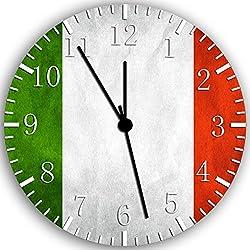 Flag of Italy Italian Flag Frameless Wall Clock W147 Nice for Decor Or Gifts
