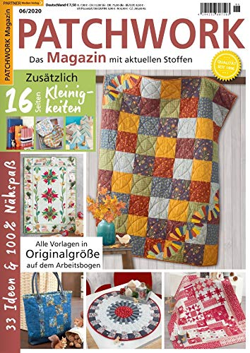 """Patchwork Magazin 6/2020 \""""16 Seiten kleinigkeiten\"""""""