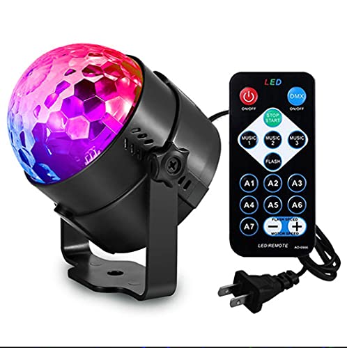 party lights Led Sound Activated Party Lights with Remote Control DJ Lighting Disco Ball Strobe Club Lamp 7 Modes Stage Par Light Magic Mini Led Stage Lights for Christmas Home Room Dance Partiee Parties Birthday
