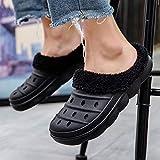 ypyrhh Alta Densidad Espuma de Memoria Zapatos,Zapatillas de Interior Suela Gruesa,Zapatillas de algodón térmicas Antideslizantes-Gris_43,Zapatillas de Casa Hombre Mujer Cálido