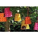 Sunflower-Design Hängewindlicht Metall pink Gartendekoration 30cm