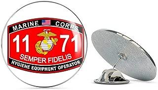 Veteran Pins Hygiene Equipment Operator Marine Corps MOS 1171 USMC US Marine Corps Military Steel Metal 0.75