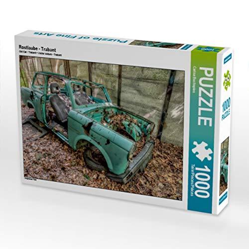 CALVENDO Puzzle Rostlaube - Trabant 1000 Teile Lege-Größe 64 x 48 cm Foto-Puzzle Bild von Sichtweisen