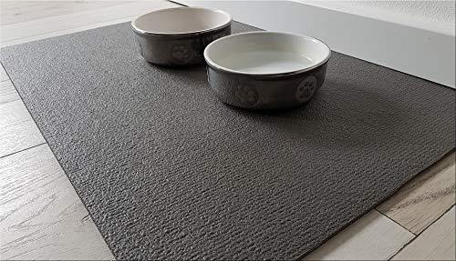 Sanosoft SanoZoo Napfunterlage - Öko-TEX - Made in Germany - Futtermatte für Hunde & Katzen (60 x 90 cm, Grau)