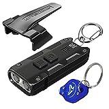 Nitecore Tip SE Black 700 Lumen USB-C Rechargeable EDC Keychain Flashlight with LumenTac Keychain Light