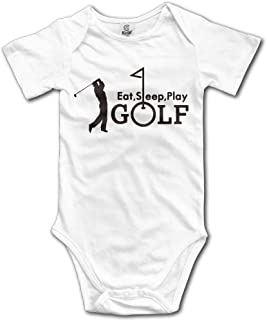 Unisex Baby's Eat Sleep Golf Summer Golfing Bodysuits Romper Light Onesies