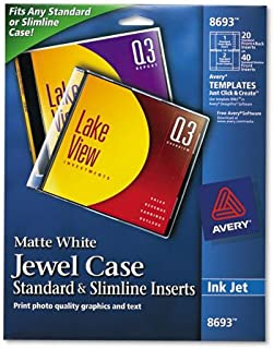 Avery Products - Avery - Inkjet CD/DVD Jewel Case Inserts, Matte White, 20/Pack - Sold As 1 Pack - Standard and Slimline Inserts. - Features Print-to-The-Edge Capability. - Ultra-fine Perforations.