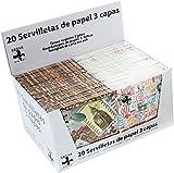 Desconocido SERVILLETAS DECOUPAGE DE Papel Decoradas con 3 Capas. Caja DE 24 Packs (20 Unidades por Pack) Ahora (480 Unidades) (Coffee)