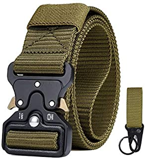 CLIPSEAM Cinturón Táctico 12o cm adaptable , Cinturón Militar de Nailon de 1.5 Pulgadas Táctico Resistente con Correa de M...