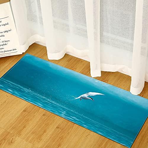 Alfombras de Cocina, alfombras de Entrada de decoración del hogar Minimalistas Modernas, alfombras absorbentes Antideslizantes en pasillos de baño A12 40x120cm