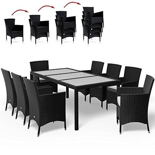 17tlg PolyRattan Sitzgruppe Gartenmöbel Gartenset Lounge Rattan Gartengarnitur Essgruppe Rattan - 2