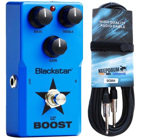Blackstar LT-Boost - Pedal de efectos para guitarra eléctrica y cable Keepdrum de 6 m