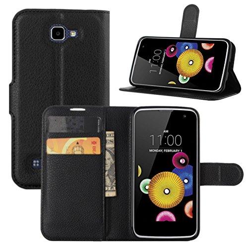 HualuBro LG K4 Hülle, Leder Brieftasche Etui LederHülle Tasche Schutzhülle HandyHülle [Standfunktion] Leather Wallet Flip Hülle Cover für LG K4 2016 4.5
