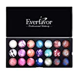 21 Color Eyeshadow Palette, Everfavor Eye Shadow Makeup Palette Shimmer Eyeshadow Palettes Baked Eye Shadows Cosmetics Pallet with Galaxy Colors (21 Color, 04)