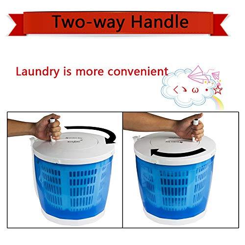 QQNB Camping-Waschmaschine,Braucht Keine Elektrizitä,Manuelle Wäscheschleuder,mit Zweiwegegriff,Multifunktionale Spülen,Schleuder,Tragfähigkeit 2kg