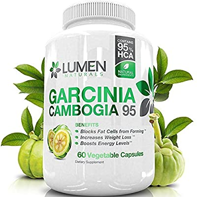 """Pure Garcinia Cambogia Fruit Extract 95% HCA - Weight Loss Pills for Men & Women - Get the """"Fastest Fat Burner""""- Proven to Burn Fat, Help Decrease Appetite & Boost Metabolism"""