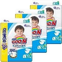 【テープ Lサイズ】グーン まっさらさら通気 (9~14kg) 210枚(70枚×3) [ケース販売]
