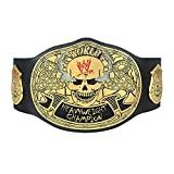 WWE Authentic Wear Stone Cold Smoking Skull Championship Replica Title Belt (5mm) Black