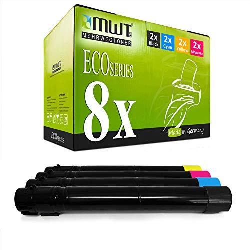 8X MWT Toner für Lexmark X952DTE X950DE X950DHE X954DE X952DHE X954DHE X952DE ersetzt X950X2 Set