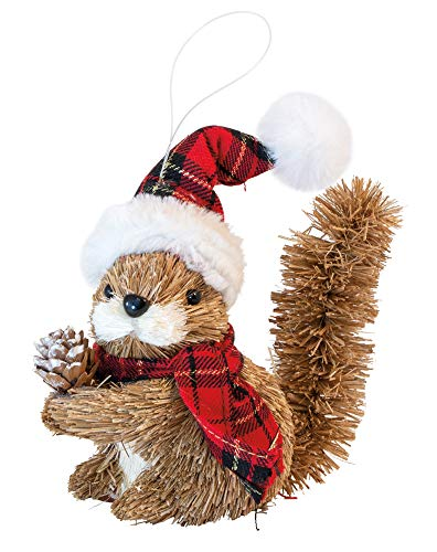 Boston International Decorative Christmas Tree Ornament, 7.5-Inches, Squirrel,NAX19398