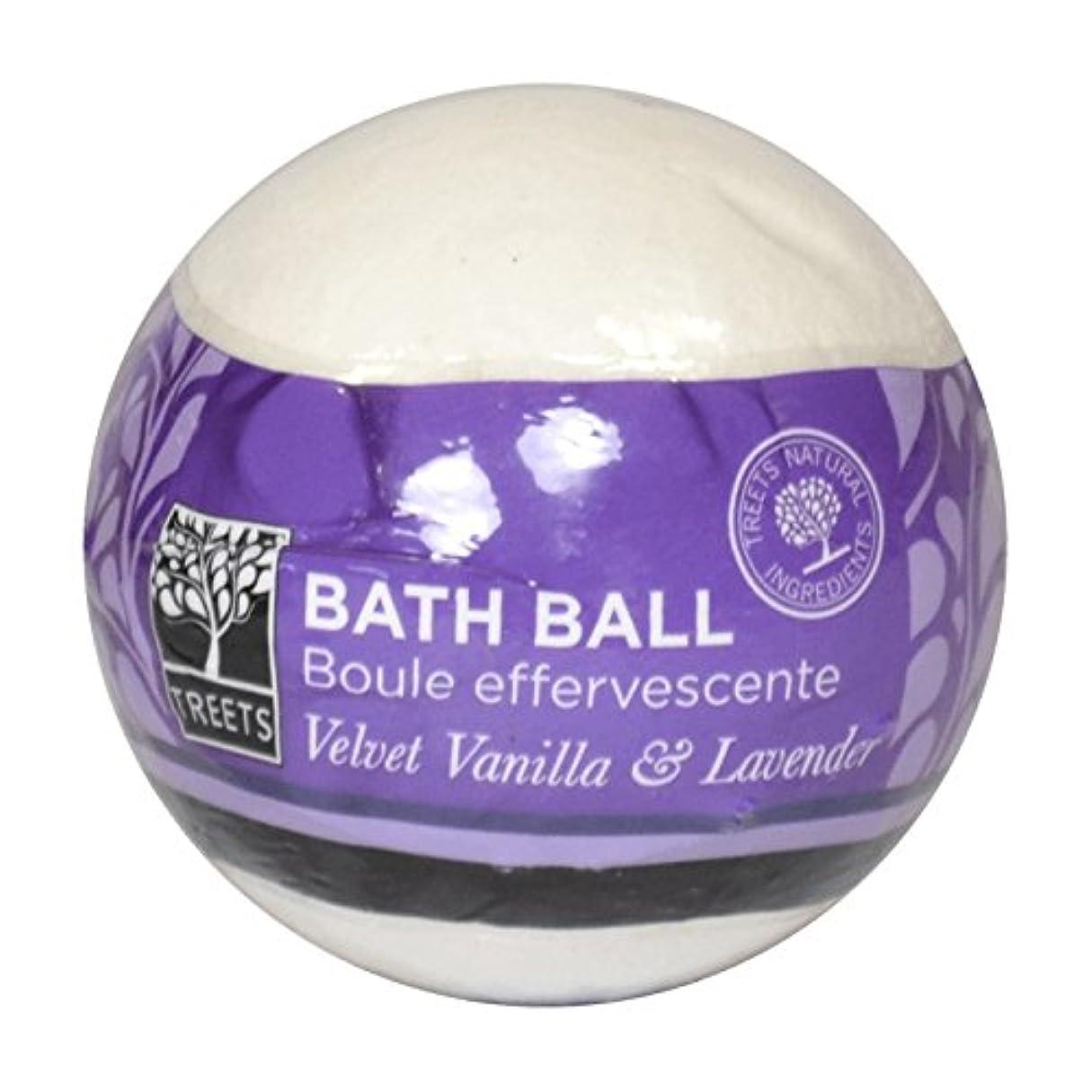 前書きメッセージメダリストTreetsベルベットのバニラ&ラベンダーバスボール - Treets Velvet Vanilla & Lavender Bath Ball (Treets) [並行輸入品]