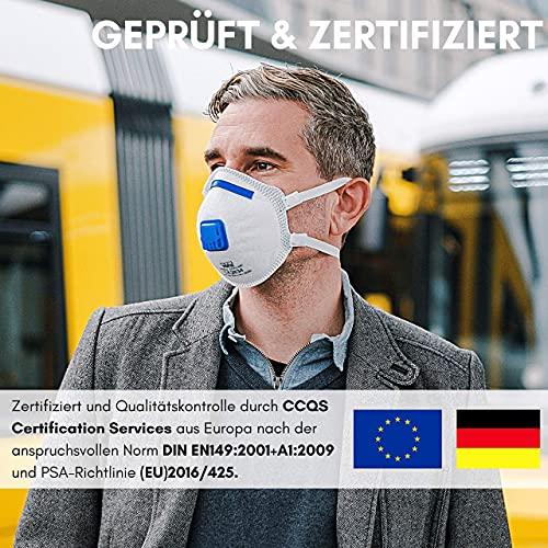 VEVOX® FFP3 Masken *NEU* – Im 5er Set – mit Komfort Plus Abdichtung – Atemschutzmaske FFP3 mit Ventil – CE Zertifiziert für den zuverlässigsten Schutz - 7