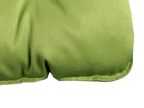 Meerweh Auflage mit Rückenteil für Bank, Wendekissen Polsterauflage Bankauflage, grün, 100 x 98 x 12 cm, 74082 - 4