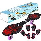 EiDevo Waveboard, Double Wheel Scooter Caster Board mit...