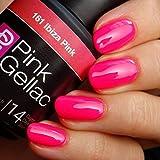 Pink Gellac 161 Ibiza Pink UV Nagellack. Professionelle Gel Nagellack shellac für mindestens 14...