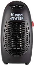 Hxsm Calefactor Eléctrico Bajo Consumo Mini Calentador de Ventilador de 400 W Calentador eléctrico montado en la Pared Estufa Radiador Calentador-Negro_16.5 * 8.3 * 7.0cm