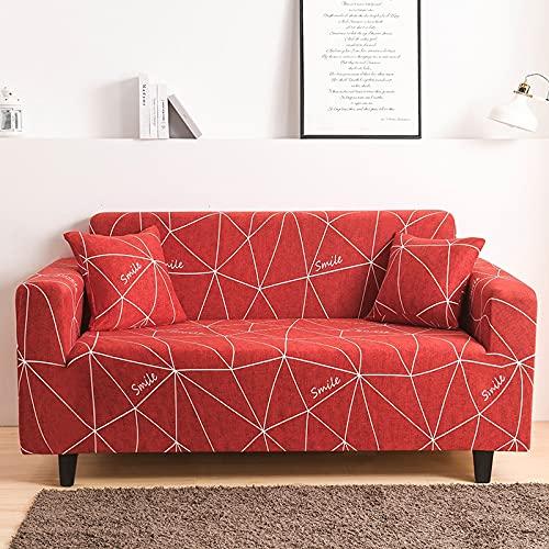 ASCV Funda de sofá elástica elástica Ajustada Ultra Spandex Funda de sofá para Sala de Estar Funda de poliéster Funda de sofá Profunda A8 4 plazas