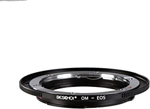 OM to EOS Lens Adapter, Beschoi Lens Mount Adapter for Olympus OM Lens to Canon EOS Camera Body, Fits Canon EOS 1D, 1DS, Mark II, III, IV, 5D, Mark II, 7D, 40D, 50D, 60D, 70D, Digital Rebel T2i, T3, T