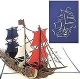 PopLife Man O' War Ship Pop Up Card for All...