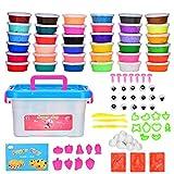 Arcilla Seca al Aire 36 Colores Cozywind DIY Slime Kit para Niños No Tóxico Arcilla Ultra...