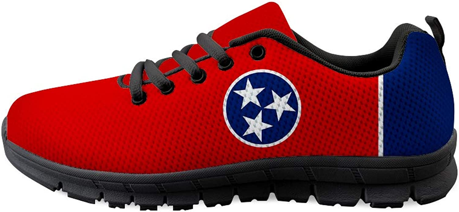 Owaheson Lace-up Sneaker Training shoes Mens Womens Tennessee Flag