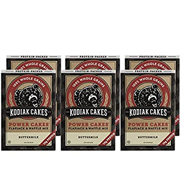 Kodiak Cakes Protein Pancake Power Cakes, Flapjack and Waffle Baking Mix, Buttermilk, 20 Ounce (Pack of 6)